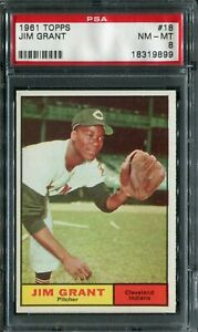 1961 Topps #18 Jim Grant PSA 8 NM-MT
