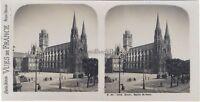 Rouen Chiesa Saint-Ouen Francia Foto Stereo Vintage Analogica c1930