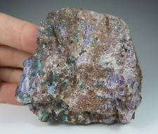 CHRYSOCOLLA and Fluorite in matrix * Fluorite Mine * Thuringia * Germany