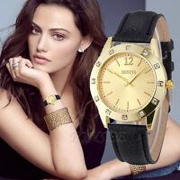 Women's Luxury Fashion Watch Geneva Diamond Analog Leather Quartz Wrist Watches