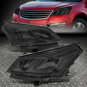 FOR 13-17 CHEVY TRAVERSE PAIR SMOKED HOUSING CLEAR CORNER SIGNAL HEADLIGHT LAMPS