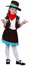 COWGIRL GIRL TODDLER KIDS FANCY DRESS CHILDREN PARTY COSTUME 2-4 TURQ