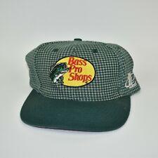 Bass Pro Shops Rare Logo Athletic Checkered Adjustable Strapback Cap Hat
