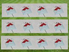 12 Stück Stecker Hochzeit Braut Tauben auf Stab Polyresin  NEU SONDERPOSTEN