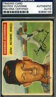 George Zuverink 1956 Topps Psa/dna Signed Original Authentic Autograph