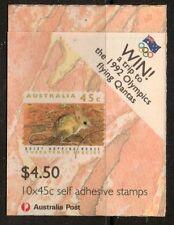 Australia SGSB 78 1992 specie minacciate O/P vincere un viaggio a OLIMPIADI LIBRETTO Gomma integra, non linguellato
