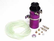 VMS ALUMINUM OIL RESERVOIR CATCH CAN TANK WITH BREATHER FILTER BAFFLED PURPLE