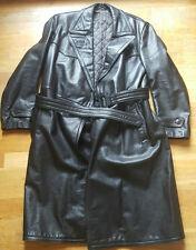 Nostalgie/Vintage Ledermantel-schwarz-schwere Ausführung-Größe L--guter Zustand