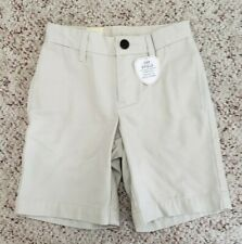 Nwt Gap Boys Tan Ivory Flat Front Shorts w/ Adjustable Waist School Uniform Sz 5