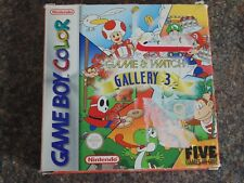 NINTENDO GAME BOY COLOR Gallery 3 Game & Watch UOVO TARTARUGA Serra PONTE.
