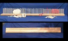 1200mm (4') Beech Peg Loom, 3 gauge, 3 rows  - crafted from Yorkshire hardwood