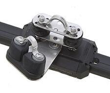 Carrello con pulegge di rinvio basculanti e strozzascotte - per rotaia 25mm | Ma