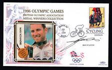 1996 Juegos Olímpicos firmado Cubierta Max Sciandri ciclismo Atlanta MATASELLOS Sello de EE. UU.