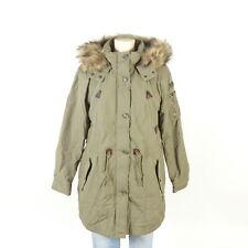ESPRIT Parka Mantel Coat Kunstfell Olive Khaki Grün Gr. 42 XL