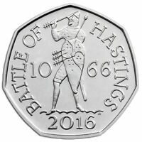 2016 50P COIN BATTLE OF HASTINGS 1066 RARE FIFTY PENCE UNCIRCULATED @