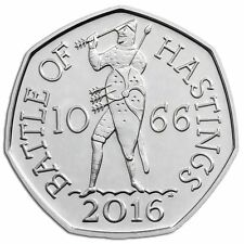 2016 50P COIN BATTLE OF HASTINGS 1066 RARE FIFTY PENCE UNCIRCULATED !