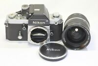 Nikon F2 Photomic SLR Film Camera Nikkor 28-45mm F4.5 Non Ai Lens Made In Japan