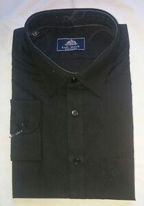 New Rael Brook Black Long Sleeve Shirt 19.5 Inch Collar
