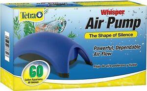 Tetra Whisper 60 Air Pump for Fish Tank Aquarium Filter Up To 100 gal.