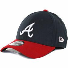 "New Era 39Thirty Atlanta Braves HOME ""Team Classic"" Hat (Navy-Red) MLB Cap"