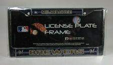 Rico Milwaukee Brewers Chrome Metal License Plate Frame