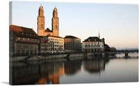 ARTCANVAS Church Towers Zurich Switzerland Canvas Art Print