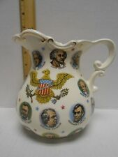 VINTAGE USA PRESIDENTS PITCHER 1965 CHADWICK MILLER Porcelain Gold Accent