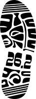 26.2K Marathon Shoe Vinyl Decal Sticker Car SUV Truck Laptop Tablet Bumper