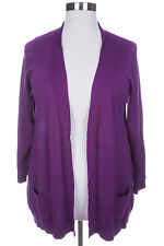 LANE BRYANT WOMEN'S PURPLE LONG SLEEVE COMFY OPEN FRONT CARDIGAN PLUS Sz 22/24