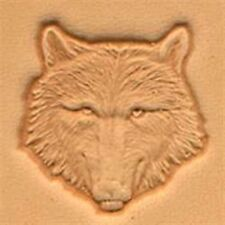 8459 Wolf Head Craftool 3-D Stamp Tandy Leather 88459-00