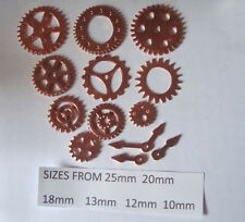 12 STEAMPUNK  METAL CHARMS ROSE GOLD COLOUR COGS AND GEARS