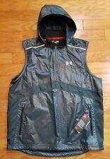 Mens Under Armour 2020 Running Vest w/ Hood Gray Size L Reflective Fitted NWT