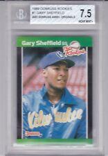 BGS 7.5 NM+ 1989 Donruss The Rookies #1 Gary Sheffield RC Milwaukee Brewers