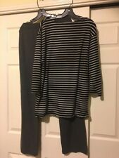 Uniqlo SetUp Mens Xl border tops and relax pant great condition