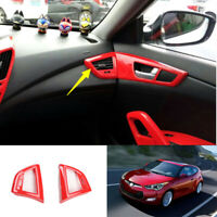 For Hyundai Veloster 2012-2017 ABS red console L&R air outlet vent cover trim