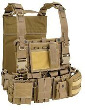 SOFTAIR DEFCON 5 M.O.L.L.E RECON HARNESS COYOTE TAN 701TAC AIRSOFT TACTICAL VEST