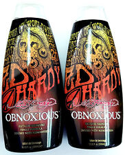 LOT OF 2 Ed Hardy Obnoxious Indoor Tanning Bed Lotion w/ HOT Tingle & Bronzer