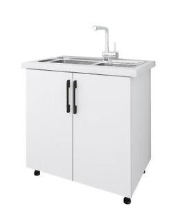 Hardis 2 Door Base Kitchen Cabinet (Sink & Benchtop excl.) - Flat Pack
