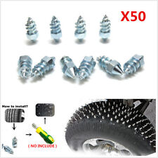 50Pcs Carbon Steel Car Tire Anti-Slip Screw Stud Winter Tyre Snow Nail Spikes