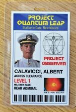 Quantum Leap Id Badge - Project Observer Albert Calavicci Cosplay costume