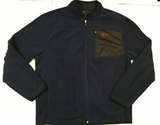 GREG NORMAN Golf Navy Blue Full Zip Fleece Pullover Shirt Golf Men's Sz Medium