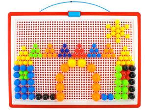Mosaik Steckspiel 300 Bunte Stecker Koffer  28,7x 3x24cm Puzzle Spaß Kreativität