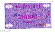 Bosnie BOSNIA Billet 20000 DINARA ND ( 1992 ) NOVCANI BON ISSUE P52A BON ETAT