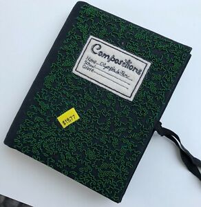 olympia le tan composition notebook book clutch
