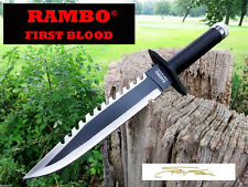 Rambo Messer FIRST BLOOD Bowie Hunting Knife  Machete Macete Coltello NEU