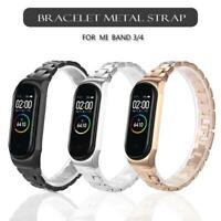 Metal Strap For Xiaomi Mi Band 3/4 Screwless Stainless Steel Bracelet Wristbands