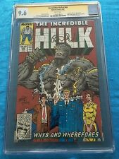 Incredible Hulk #346 - Marvel - CGC SS 9.6 NM+ - Signed by Peter David