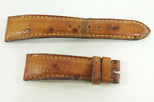 Bulgari Tan Ostrich Quill Leather Padded 18mm Women's Watch Strap Band Anne Anka