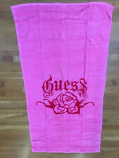 New listing Guess Large Beach Towel Pink 100% Cotton Nwt
