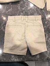 Cat & Jack Boys Flat Front Shorts Beige Khaki Uniform Size 4